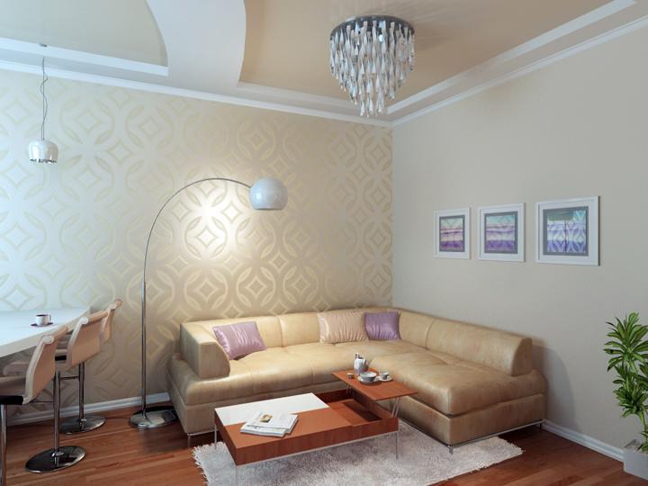Дизайн интерьера квартиры 52 кв м ул
