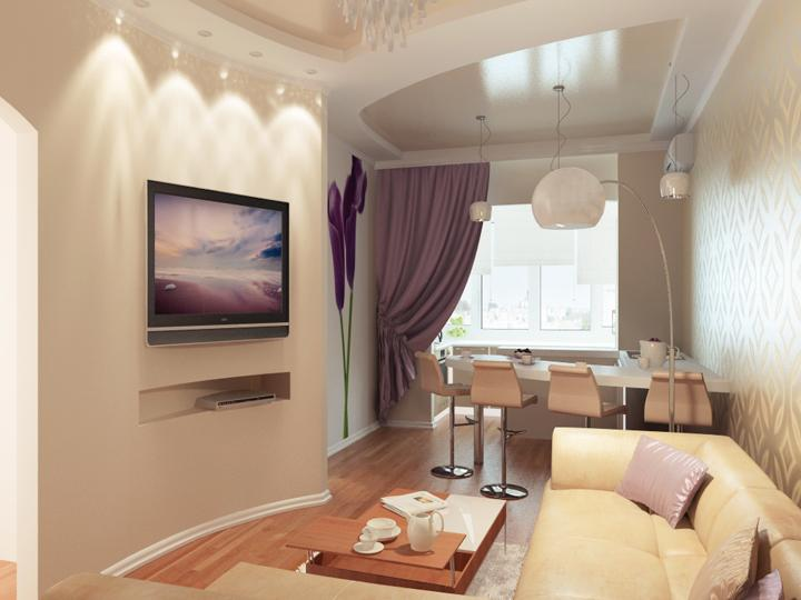 Фото дизайна двухкомнатной квартиры 40 кв м