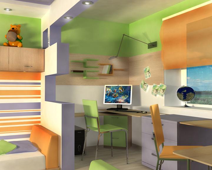 Дизайн детской комнаты 13 кв м для