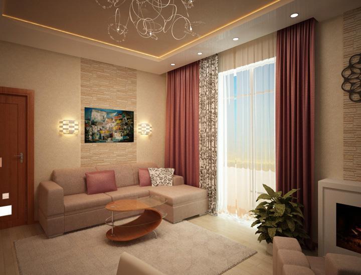 Дизайн интерьера квартиры 57 кв м ул