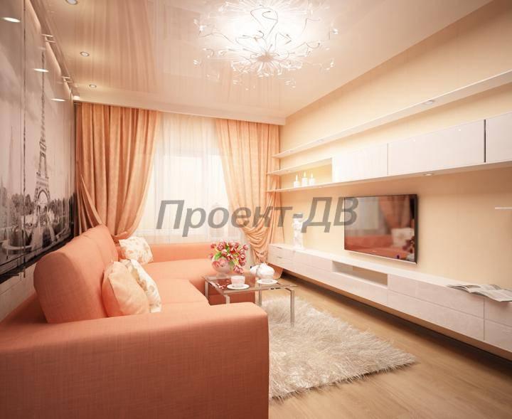 Персиковый цвет в интерьере спальни : Фото красивых интерьеров