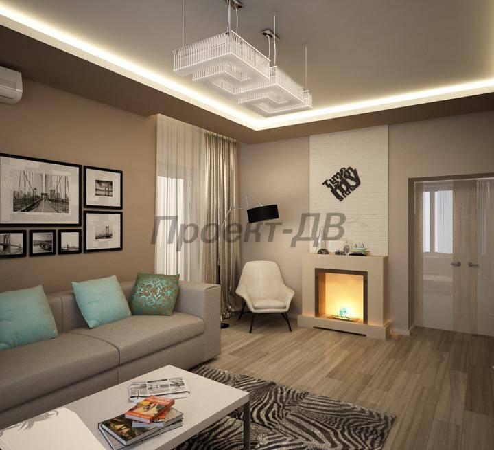 Дизайн гостиной 22 кв м фото