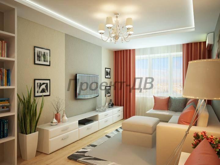 Дизайн гостиной 19 кв метров