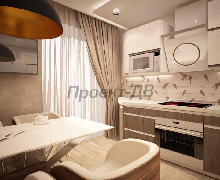 Дизайн 3 комнатной квартиры 66 кв.м
