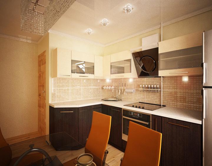 Дизайн кухни 9 кв.м фото с барной стойкой