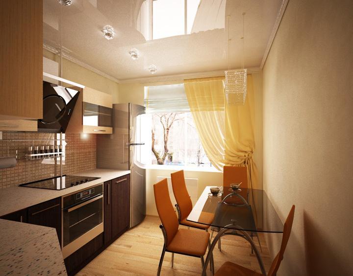 Дизайн кухни 8 м.кв. ул. Калинина, 12 г. Хабаровск.