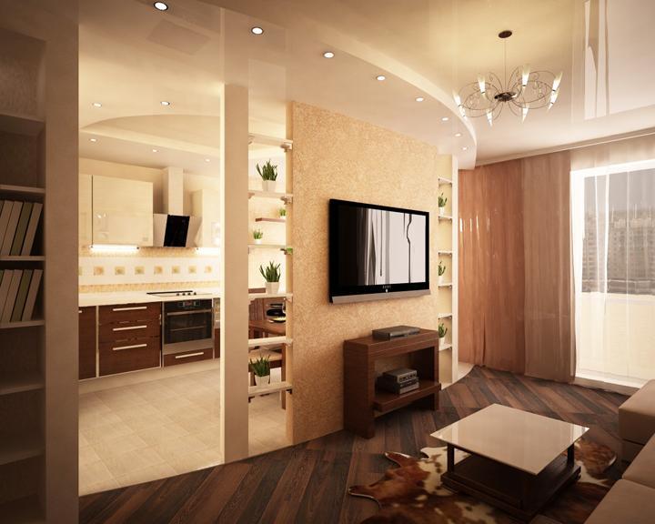 Дизайн проема в стене в кухни в